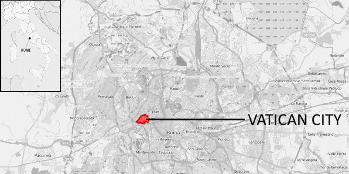 Vatikaani Rooman Kartta Kartta Vatikaani Rooma Etela